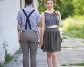 SALE- Black Weekender Skirt- High Waisted Party Skirt- CLEARANCE