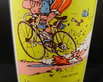 Leader of the Pack Bike Rider Gary Patterson Sport Collector Pepsi Glass