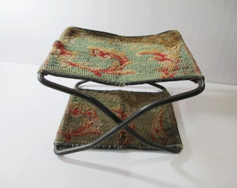 Antique Folding Buggy Seat, Child's Booster Seat, Magazine Holder, Primitive Decor, Wagon, Carriage, Sleigh