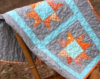 READY TO SHIP - Modern Star Baby Quilt