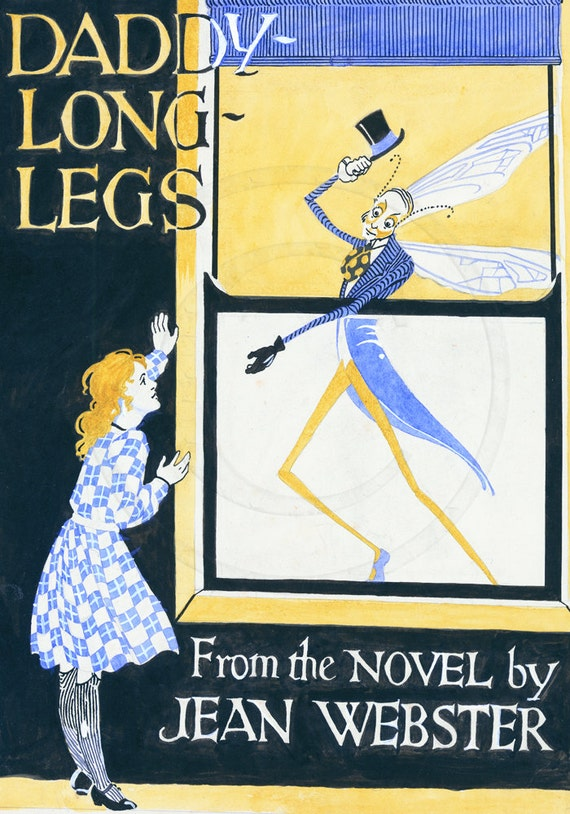 Daddy Long Legs Jean Webster Novel Art Deco Print