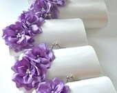Set of 5  Bridesmaid clutches / Wedding clutches - Custom Color