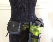 Recycled Bike Inner Tube Bottle Holder - Adjustable for MANY Bottle Sizes with YOUR CHOICE of Thread and Hardware