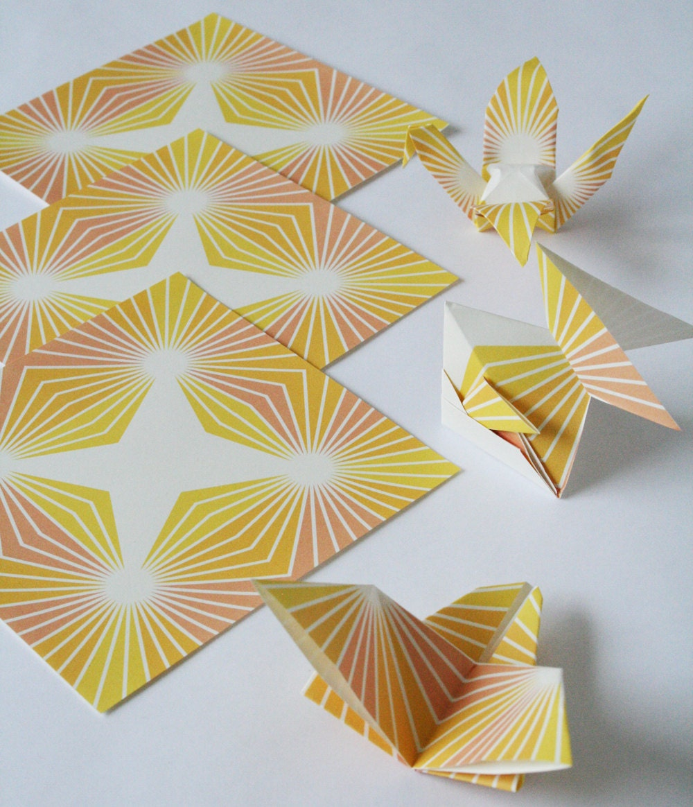origami paper modern starburst geometric origami paper