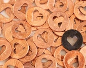 3 Heart Penny - copper heart charm wedding favors  bridal shower favors baby shower favor