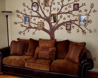Family Tree Murals For Walls personalized last name family tree wall decal photo collage