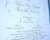 Wedding Program, Signs, Menu, Wine List, Thank You