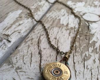 Repurposed 12 Gauge Shotgun Shell Pendant Necklace