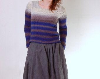 Crochet Pattern PDF - Bleached Shoulders Tunisian Sweater - tunisian crochet sweater pattern instant download