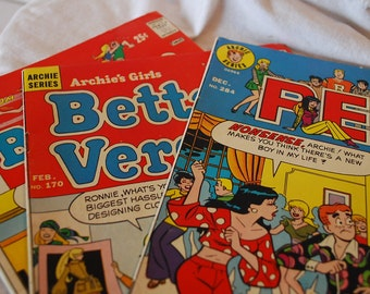 Vintage Archie Series Comic Books: Laugh, PEP, Betty and Veronica, Reggie and Me