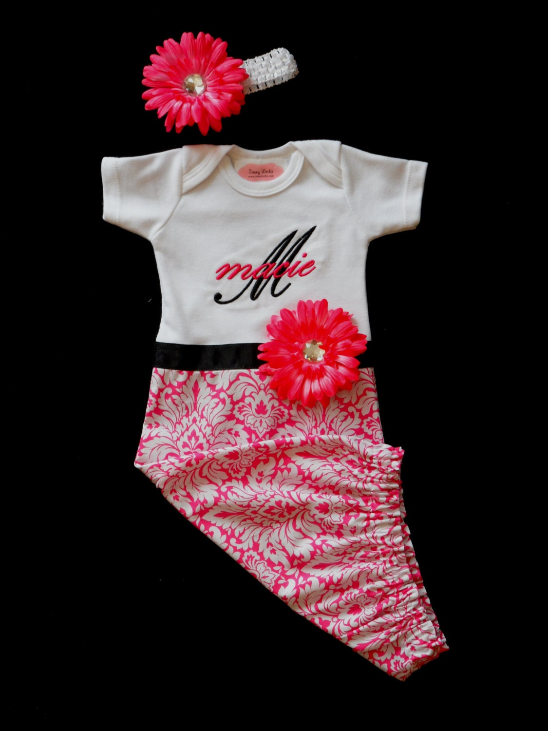 Monogram Layette Gown Baby Girl Clothes Take Home By