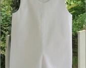 Boys  White Pique Jon Jon Shortall Romper Beach Outfit for Pictures   sizes:  6mo, 12mo, 18mo, 24mo/2T, 3T, 4T