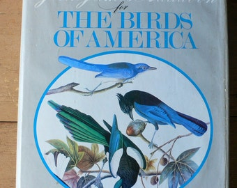 1966 book The Birds Of America with original watercolor paintings by John James Audubon