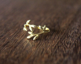Gold Sprig Ring