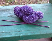 4 Ounces of Purple Cabled Yarn