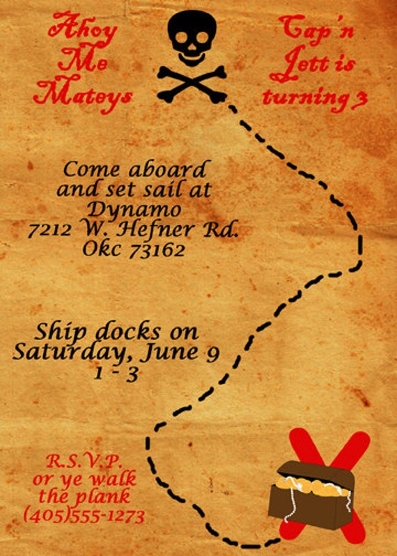 Pirate Invitations Free is best invitations sample