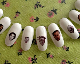 Nicolas Cage Nail Decals Transfer Nail Stickers / Meme / Funny / Nic Cage