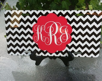 Personalized License Plate Chevron or Create your own