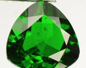Brilliant RARE Green Russian Diopside Trillion Cut Faceted Loose Gemstone for Setting as Jewelry, 1.75 carats, Collectible