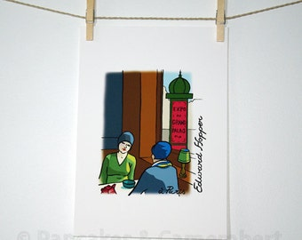 Edward Hopper - Art print - A4 size (8 1/4 x 11 3/4)