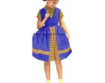 Plus Size (or any size) Vintage 1949 Dress Sewing Pattern - PDF - Pattern No 106 Nelda