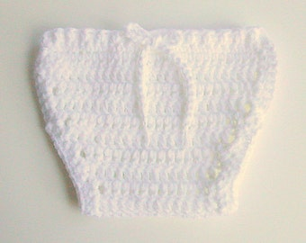 Newborn White  Diaper Cover Baby Soaker Girl Cozy 3 To 6 Months Infant Boy Nappy Kozy Ready To Ship Shower Gift