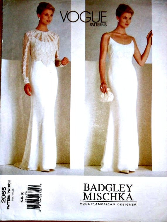 Wedding Gown Wedding Dress Lace Top Sewing Pattern Badgley