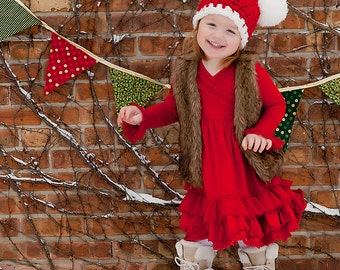 Christmas Toddler Hat 2T - 4T Toddler Christmas Hat Toddler Girl Hat Toddler Boy Hat Toddler Santa Hat Santa Photo Prop Red White Candy Cane