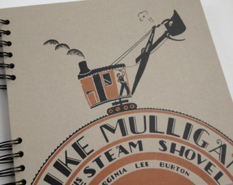 Mike Mulligan and His Steam Shovel Recycled Book Journal