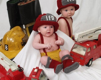 Custom Order Fire Fighter set photo prop