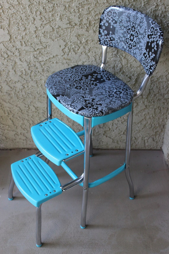 1950 S Turquoise Blue Cosco Step Stool By Theivorybill On Etsy