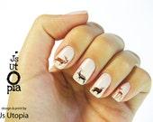 Deer Water Transfer Nail Sticker - JsUtopia