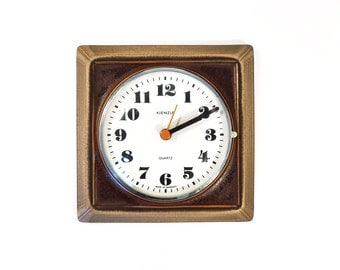 Vintage // Kienzle brown wall clock // West German ceramic // West German pottery // West Germany