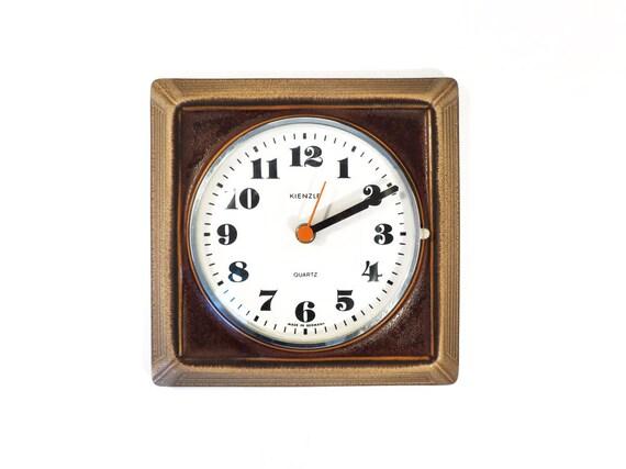 items similar to vintage kienzle brown wall clock