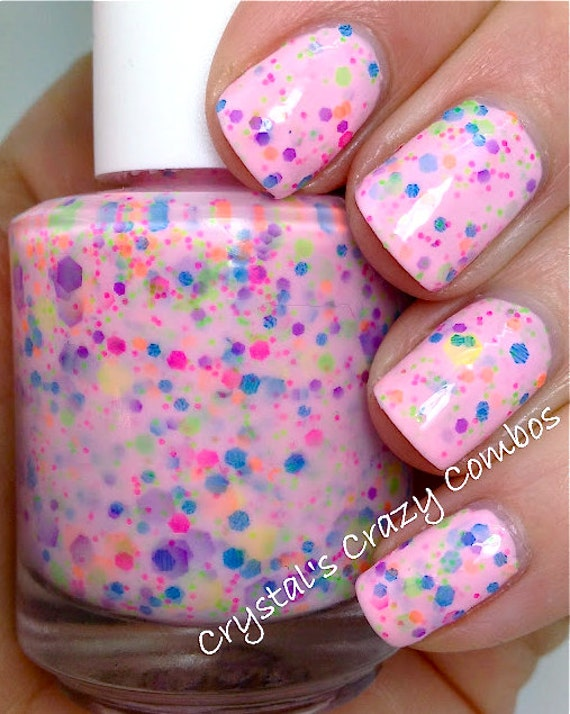 I Lost My Marbles Custom-Blended NEON Glitter Nail Polish