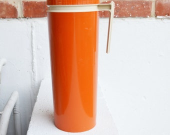 Tall Thermos, Orange with Handle, U.S.A.