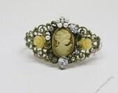 Cameo Bracelet Victorian Cuff Bracelet by Bridget Blue
