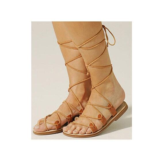 db589cc59 Gold Lace Up Flat Sandals ~ Gold Sandals