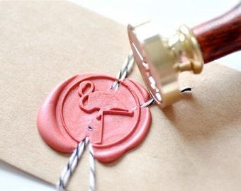 B20 Wax Seal Stamp Flamingo Bird