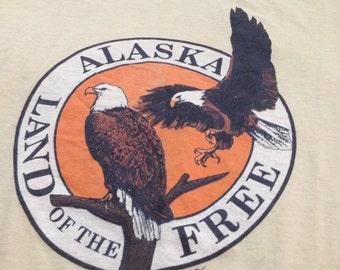 Alaska Land of the Free Vintage Tee