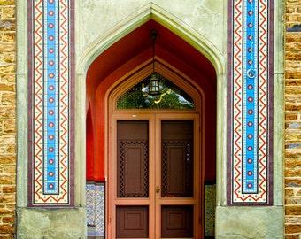 Olana Frederic Church Persian Art Persian Architecture Door Photograph Hudson River & Persian Art Persian Lion Large Canvas Wall Art Print