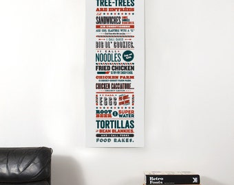 """Parks and Recreation Print // Tom Haverford // Apps and Zerts Poster // 8"""" x 24"""" // 12"""" x 36"""""""