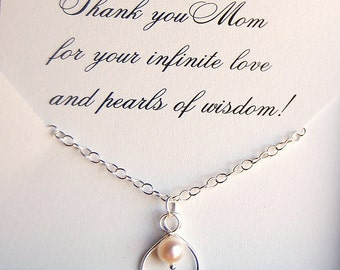 Mother of the Bride, Mother of the Groom, Thank you MOM, Keepsake for Mom, Mother, wedding jewelry, Moms infinite love, wedding gift for MOM