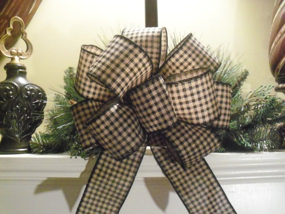 burlap bows wedding bows decorative bows black by ribbondiculous. Black Bedroom Furniture Sets. Home Design Ideas