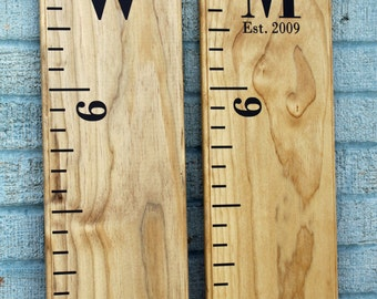 Growth Chart Ruler Add-On -- Custom Personalization Decal  -- Monogram