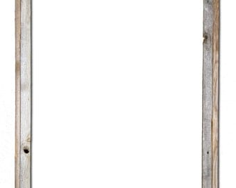 "24x36 –2"" wide Barnwood Reclaimed Wood Open Frame (No Glass or Back)"