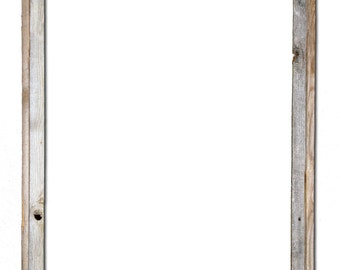 24x36 2 wide barnwood reclaimed wood open frame no glass or back