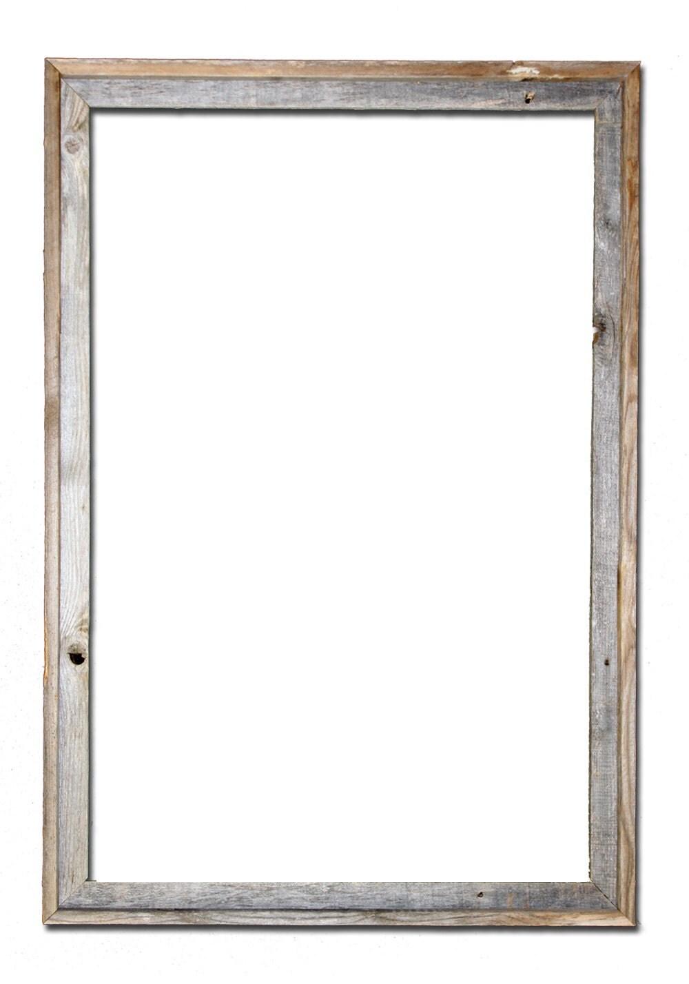 🔎zoom - 24x36 2 Wide Barnwood Reclaimed Wood Open Frame No