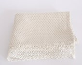 Natural linen bath towel, with french lace free shipping  made by mooshop