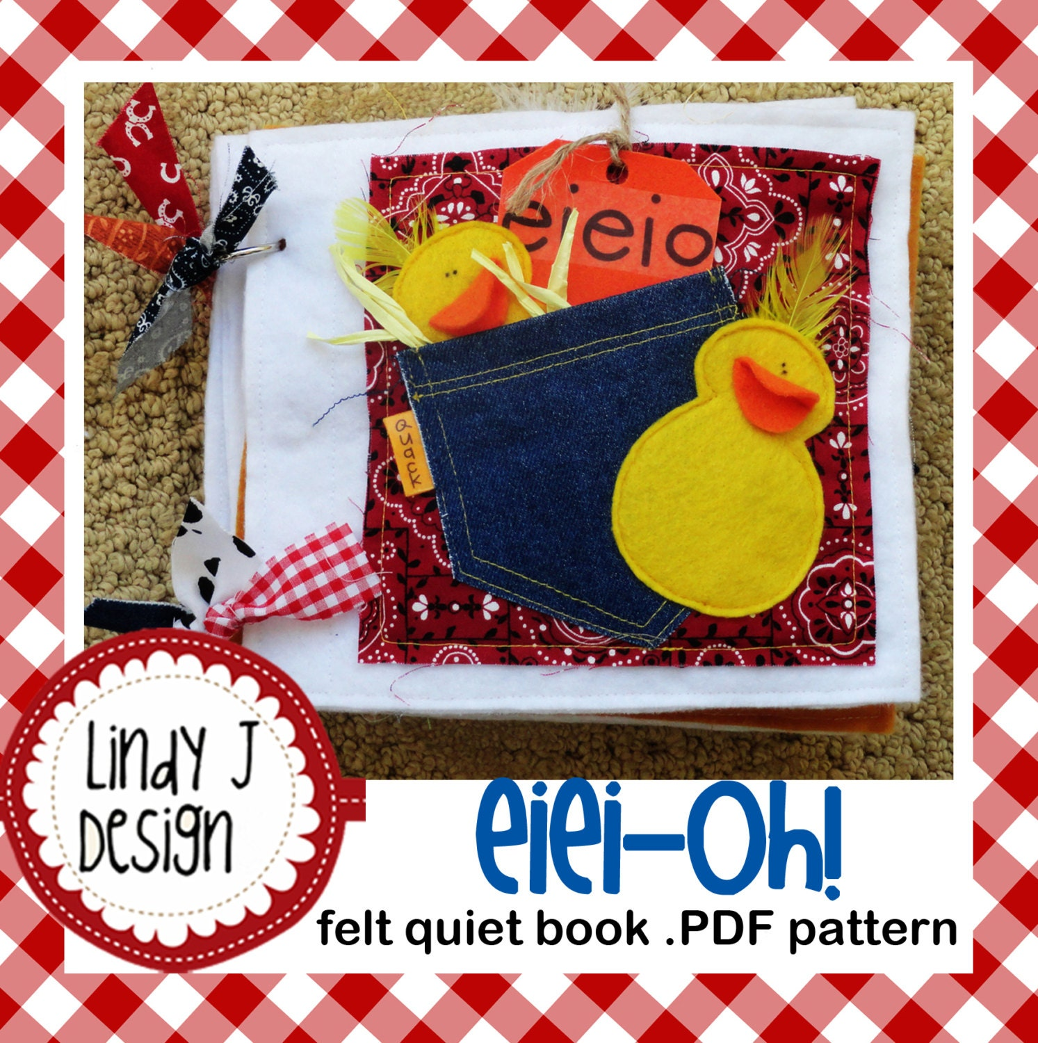 Felt Book Cover Pattern ~ Eiei oh felt quiet book pdf pattern